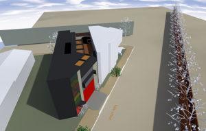 Luland St 3D render angle