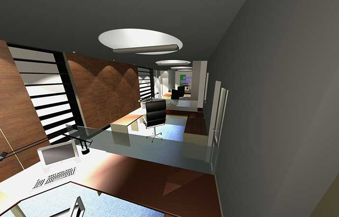 RACP Project 3D render office